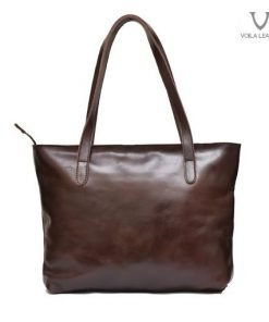 Tas tote kulit voila new brittany dark brown
