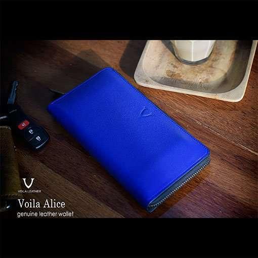 Dompet Kulit Voila Alice Blue