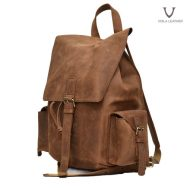 Voila Cyrus Leather Backpack Brown