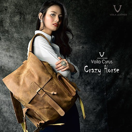 b93556fdea Voila Cyrus Leather Backpack Brown - Voila Leather