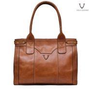 Voila Roxanne Havana Leather Tote Bag