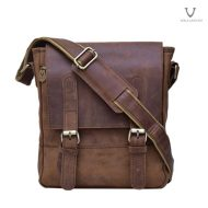 Men Leather Sling Bag Voila Chester Brown