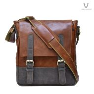 Men Leather Sling Bag Voila Chester Havana