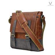 Men Leather Sling Bag Voila Chester Havana