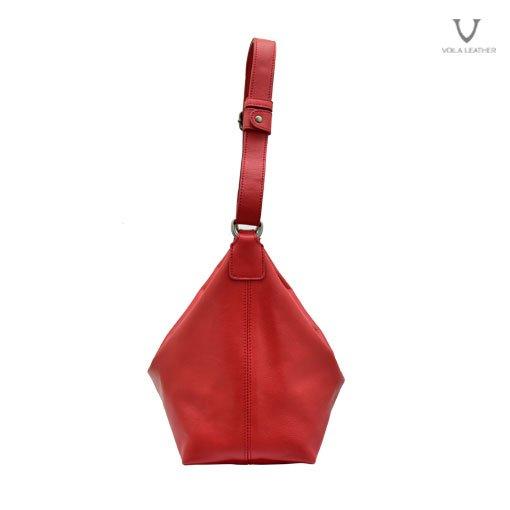 Mini Hobo Kombinasi Selempang Kulit Voila Freya Red