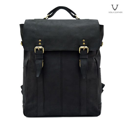Backpack Kulit Voila Edward Black (2)