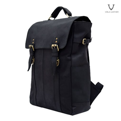 Backpack Kulit Voila Edward Black