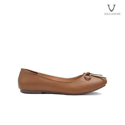 Flat Shoes kulit Asli Voila Carla Brown