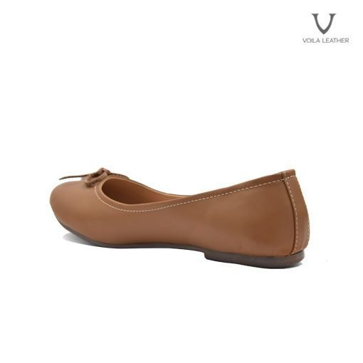 Flat Shoes kulit Asli Voila Carla Brown