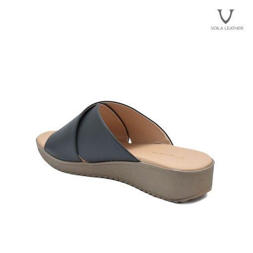 Sandal Kulit Asli Voila Jewel Grey