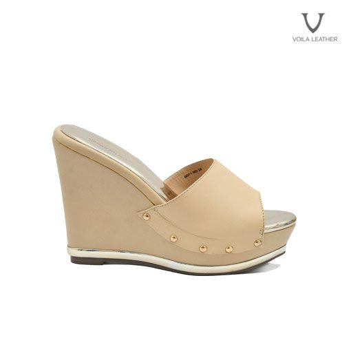 Wedges Kulit Asli Voila Blonde