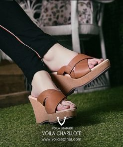 Wedges-Kulit-Asli-Voila-Charlotte-Brown