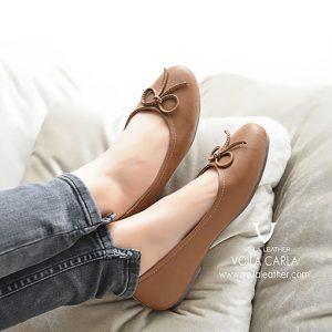 Flat-Shoes-kulit-Asli-Voila-Carla-Brown
