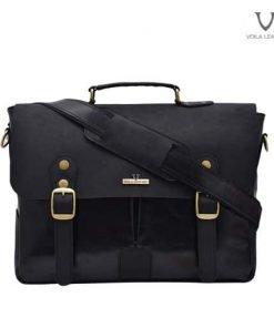 Messenger-Bag-Kulit-Asli-Voila-Tristan-Black