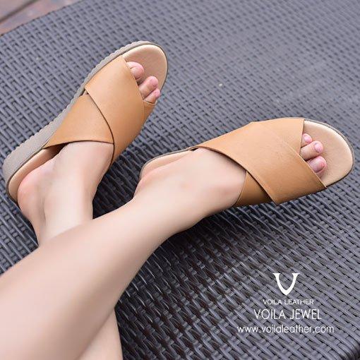 Sandal-Kulit-Asli-Voila-Jewel-Beige