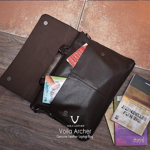Tas-Laptop-Kulit-Asli-Voila-Archer-Brown
