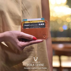 Card Holder Kulit Asli Voila Devine