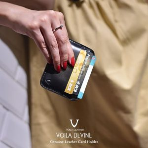Card Holder Kulit Asli Voila Devine Black