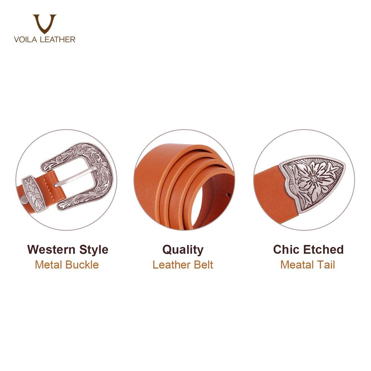Flora in Brown Genuine Leather Women's Belt