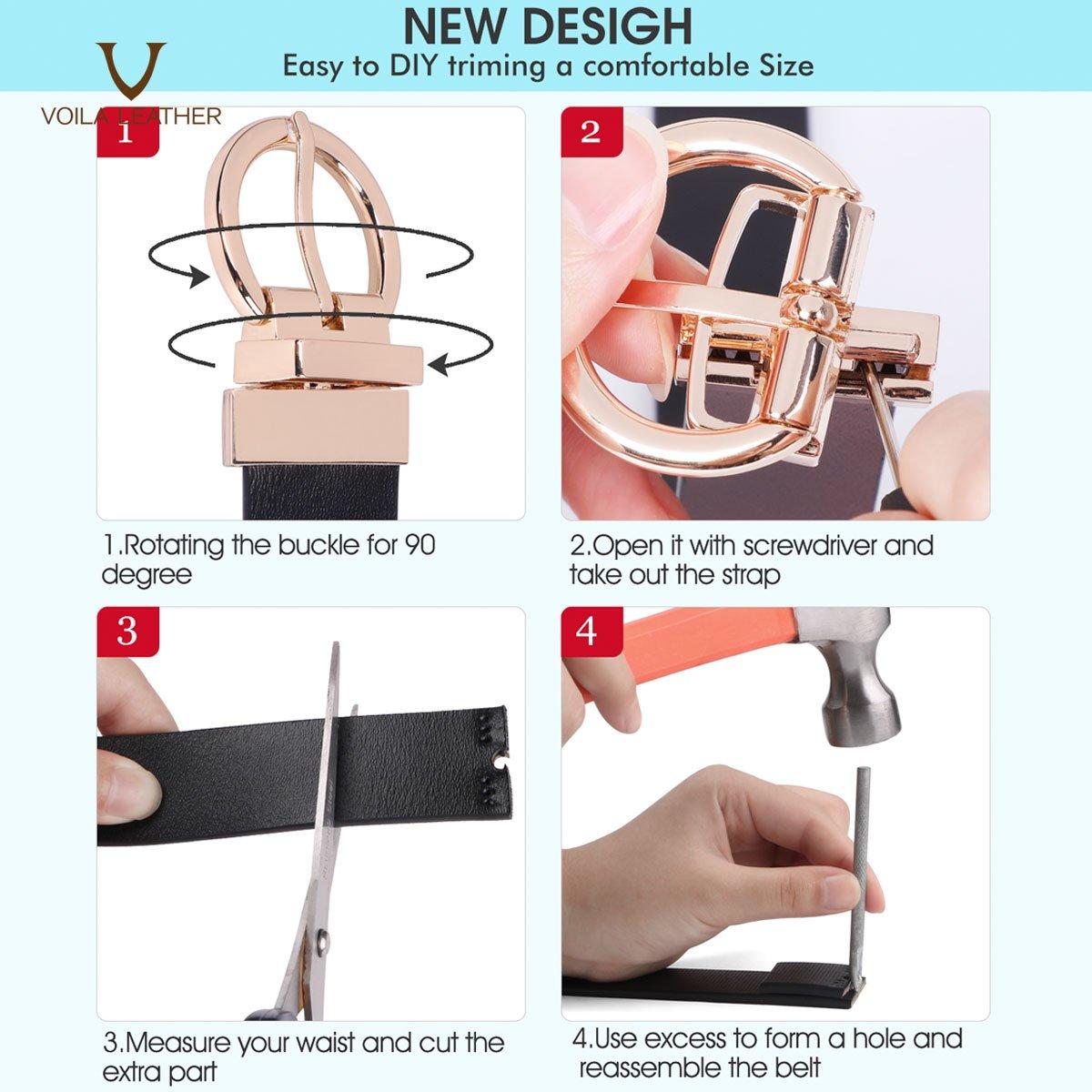 Women Reversible Genuine Leather Belt