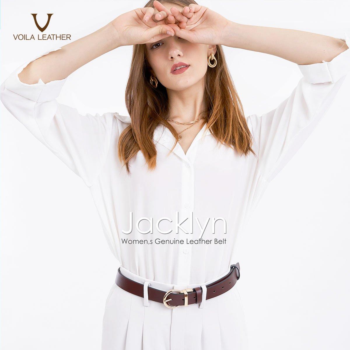 Voila Jacklyn Women Reversible Genuine Leather Belt