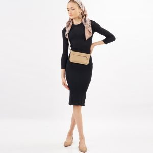 Genuine Leather Waistbag For Smartphone Voila Declan Beige